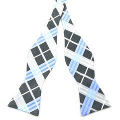 Las corbatas de lazo del uno mismo de los hombres enrejadas ocasionales Paisley Jacquard tejidas corbatas de seda