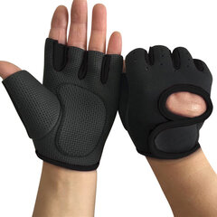 Mens Sunscreen Adjustable Non-slip Half Finger Gloves Outdoor Sports Riding Fitness Gloves