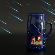 Heat Change Color Ceramic Mug Colorful Romantic Night Couple Cup Together Forever Christmas Gift