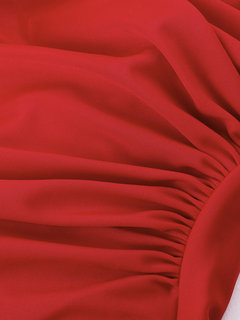 Deep Plunge Halter Backless Solid Color Elastic Two Piece Swimwear