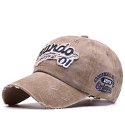 Men Women Washed Cotton Baseball Cap Breathable Sports Cap Vintage Embroidery Outdoor Hat