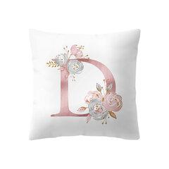 Einfache nordischen Stil rosa Alphabet ABC Muster Throw Pillow Cover Startseite Sofa Creative Art Kissenbezüge