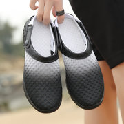 Men Mesh Breathable Two Ways Wearing Slip On Casual Beach Sandals