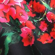 O-образный вырез без рукавов с цветочным принтом Платье For Kids Girl