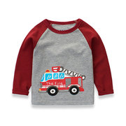 Car Pattern Boys Long Sleeve Tops T shirts For 2Y-11Y