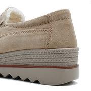 Женская теплая обувь на платформе с подкладкой