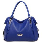 Women Elegant PU Handbag Clutches Bag Evening Bag Hit Color Shoulder Bag