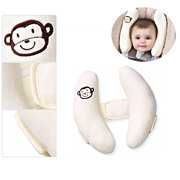 Branco Cor Baby Kid Head Neck Support Baby Car Seat Pillow Trolleys Ajustável Child Neck Care