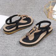 Sandálias Planas Femininas de Tamanho Grande Confortável