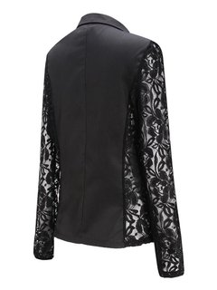 Spliced ​​Floral Stylish Revers One-Button Frauen Jacken