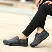 Stitching Soft Pure Color Flat Shoes For Women