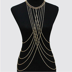 Sexy Tassels Crossover Harness Waist Necklace