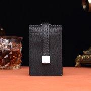 Couro Genuíno Casaul Multi-funcional Portátil Chave Bolsa Cartão Bolsa Para Homens