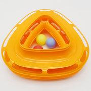 3 ألوان مضحك القط لعبة برج مع كرات الدوار الكرة كيتي البلاستيك هريرة اللعب التفاعلية