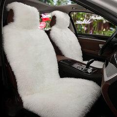 Funda de asiento delantera universal de felpa larga para automóvil Funda de asiento de lana de imitación de lana suave y cálida