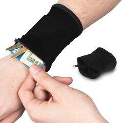 Wrist Wallet Pouch Band Fleece Zipper Running Travel Gym Cycling Safe Sport Wrist Wallet