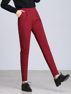 Solid Color Breathable Thin Casual Pencil Pants