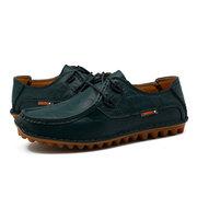 Мужчины Натуральная Кожа Шить Лодка Форма Британский стиль зашнуровать повседневную обувь
