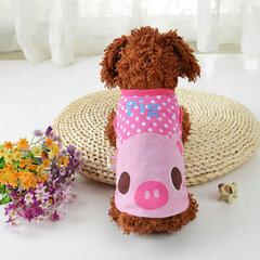 الكرتون نمط أزياء كلب الملابس الترفيه تي شيرت ل المتوسطة الصغيرة بوديل بيشون شس-زل