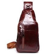 Sac à bandoulière en cuir véritable pour hommes d'affaires Sacs à bandoulière Sacs à bandoulière