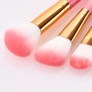 12 Pcs Rosa Maquiagem Escovas Com Conjunto De Tubo De Armazenamento De Pó Solto Escova Rosto Maquiagem Ferramentas