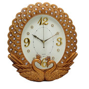 Bedroom Mute Retro Wall Clock European Style Living Room Peacock Lace Creative Clocks Hot Sale