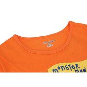 Little Maven Оранжевый Прекрасный Авто Верх из хлопка с короткими рукавами для мальчика