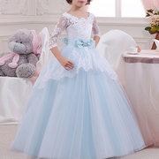 Сладкий девочки дети формальный театрализованный костюм Comfy Princess Платье для 4Y-15Y