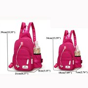Casual Nylon Lightweight Outdoor Travel Chest Bag Shoulder Bag Backpack For Women