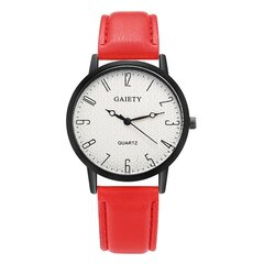 Fashion Quartz Wristwatch Muliticolor Leather Strap Round Dial Causal Watches for Women