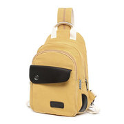 Canvas Patchwork Women Chest Bags Sports Crossbody Bags