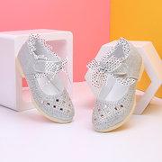 Mädchen glänzende Pailletten Haken Schleife Lace Decor schöne Mary Jane Schuhe