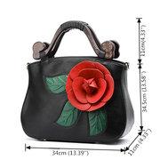 Brenice Sac à main à bandoulière en cuir PU Vintage Rose pour femme