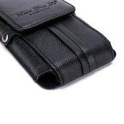 Sac à bandoulière en cuir véritable pour portable