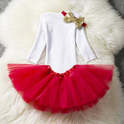 3Pcs First Birthday Party Baby Girl Tutu Outfits Clothes Set For 6-18M