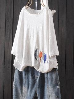 T-shirt Casual Manga Curta