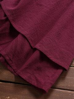 Manga ajustada en capas Color sólido O-cuello vendimia Vestidos