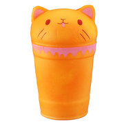 Temperature Sensing Cat Coffee Cup Squishy Change Color Slow Rising Toy With Packing