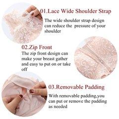 Soutiens-gorge en coton doublé sans armatures avec fermeture à glissière sur le devant