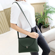 Women Pure Color Stylish Flap Hasp Shoulder Bag Crossbody Bags