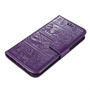 Women Elephant Imprint PU Leather Phone Case Card Holder Wallet For Iphone