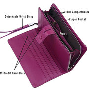 BRENICE Pochette in Pelle Vitello con RFID Antimagnetico