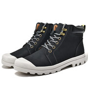 Men Water Resistant Wearable High Top Warm Ankle Work Boots