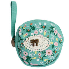 Cute Women Floral Frint Canvas Wallet Cion Bag