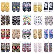 Nouvelle tendance 3D Digital Design Design Unisexe Ship Socks Chaussettes mignonnes style Harajuku