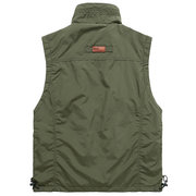 Outdoor Fishing Reporter Photography Loose Multi Pockets Vest