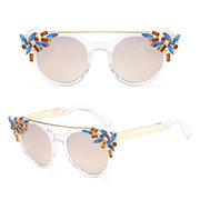 Women Cat Eye Anti-UV Sunglasses Vintage Brand Designer Crystal Diamond Frame Sunglasses