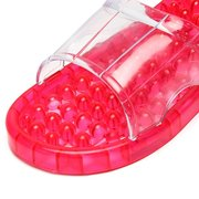 Crystal Transparent Massage Indoor Flat Slip On Casual Home Shoes