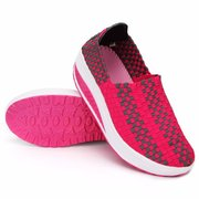 Stretch Casual Breathable Knitting Platform Slip On Shook Shoes Sneakers