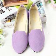 Большой Размер Круглый Носок Сплошная Обувь На Плоской Подошве